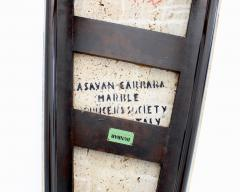Edward Wormley EDWARD WORMLEY TRAPEZOID SIDE TABLE WITH ASAVAN CARRARA MARBLE TOP FOR DUNBAR - 1984578