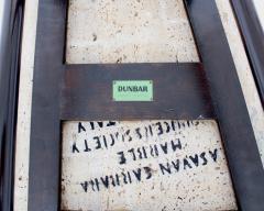 Edward Wormley EDWARD WORMLEY TRAPEZOID SIDE TABLE WITH ASAVAN CARRARA MARBLE TOP FOR DUNBAR - 1984580