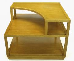 Edward Wormley Edward Wormley Bleached Mahogany Corner Table for Dunbar - 72742