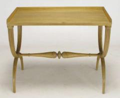 Edward Wormley Edward Wormley Bleached Mahogany Reeded Curule Leg Table - 267338