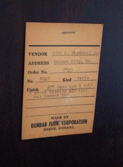 Edward Wormley Edward Wormley Dining Table for Dunbar Model 5965 Special Order Walnut Top 1950s - 1910067