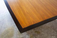 Edward Wormley Edward Wormley Dining Table for Dunbar Model 5965 Special Order Walnut Top 1950s - 1910073