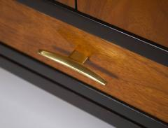Edward Wormley Edward Wormley Dunbar Cabinet or Nightstand in Walnut Mahogany Brass Dunbar - 1910044