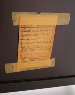 Edward Wormley Edward Wormley Dunbar Cabinet or Nightstand in Walnut Mahogany Brass Dunbar - 1910045
