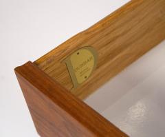 Edward Wormley Edward Wormley Dunbar Cabinet or Nightstand in Walnut Mahogany Brass Dunbar - 1910050