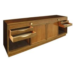 Edward Wormley Edward Wormley Elegant Credenza in Walnut and Mahogany 1960s signed  - 1046754