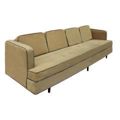 Edward Wormley Edward Wormley Elegant Sofa with Mahogany Legs 1950s - 651767