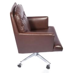 Edward Wormley Edward Wormley Office Chair in Leather with Chrome Base 1960s - 1991150