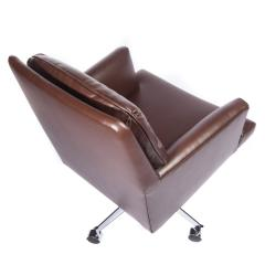 Edward Wormley Edward Wormley Office Chair in Leather with Chrome Base 1960s - 1991151
