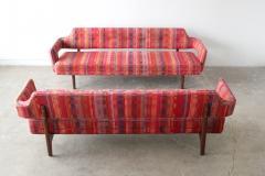 Edward Wormley Edward Wormley Open Back Sofas for Dunbar Original Dorothy Liebes Woven Textile - 1847091