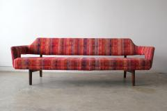 Edward Wormley Edward Wormley Open Back Sofas for Dunbar Original Dorothy Liebes Woven Textile - 1847092