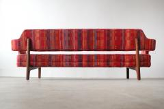 Edward Wormley Edward Wormley Open Back Sofas for Dunbar Original Dorothy Liebes Woven Textile - 1847093