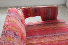 Edward Wormley Edward Wormley Open Back Sofas for Dunbar Original Dorothy Liebes Woven Textile - 1847094