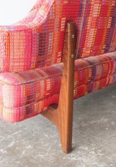 Edward Wormley Edward Wormley Open Back Sofas for Dunbar Original Dorothy Liebes Woven Textile - 1847095