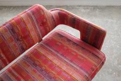 Edward Wormley Edward Wormley Open Back Sofas for Dunbar Original Dorothy Liebes Woven Textile - 1847096
