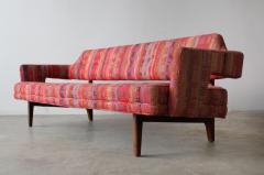 Edward Wormley Edward Wormley Open Back Sofas for Dunbar Original Dorothy Liebes Woven Textile - 1847099