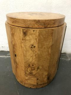 Edward Wormley Edward Wormley Pedestal Bar Cabinet in Olive Burl model 6302D - 2167900