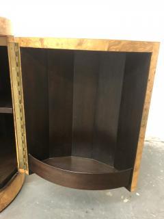 Edward Wormley Edward Wormley Pedestal Bar Cabinet in Olive Burl model 6302D - 2167904