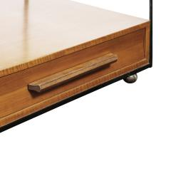Edward Wormley Edward Wormley Rare Bedside Tables in Black Steel and Teak 1960s signed  - 2066063
