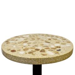 Edward Wormley Edward Wormley Rare Occasional Table with Marble Set in Terrazzo 1959 Signed  - 1988954