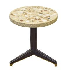 Edward Wormley Edward Wormley Rare Occasional Table with Marble Set in Terrazzo 1959 Signed  - 1988956