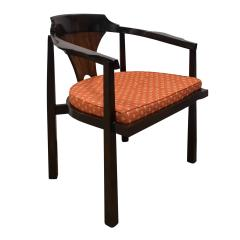 Edward Wormley Edward Wormley Set of 4 Dining Game Chairs in Walnut and Rosewood 1963 Signed  - 1675275