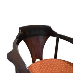 Edward Wormley Edward Wormley Set of 4 Dining Game Chairs in Walnut and Rosewood 1963 Signed  - 1675277