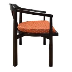 Edward Wormley Edward Wormley Set of 4 Dining Game Chairs in Walnut and Rosewood 1963 Signed  - 1675281