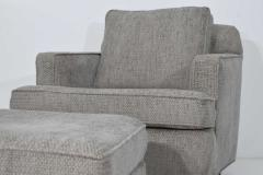 Edward Wormley Edward Wormley for Dunbar 1965 Lounge Chair and Ottoman in Gray Tweed - 1370090