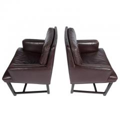 Edward Wormley Edward Wormley for Dunbar Armchairs with Original Leather Circa 1960s - 544150