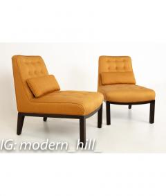 Edward Wormley Edward Wormley for Dunbar Mid Century Slipper Lounge Chairs Pair - 1850982