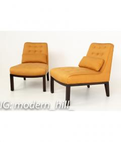 Edward Wormley Edward Wormley for Dunbar Mid Century Slipper Lounge Chairs Pair - 1850983