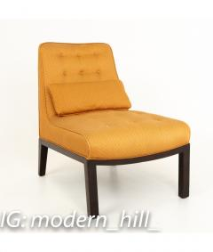 Edward Wormley Edward Wormley for Dunbar Mid Century Slipper Lounge Chairs Pair - 1850989