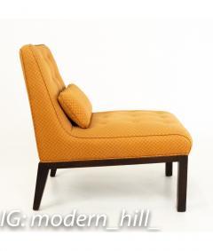 Edward Wormley Edward Wormley for Dunbar Mid Century Slipper Lounge Chairs Pair - 1850990