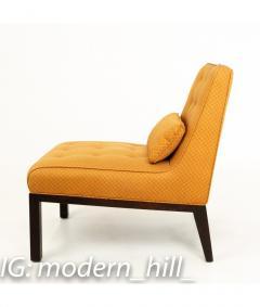 Edward Wormley Edward Wormley for Dunbar Mid Century Slipper Lounge Chairs Pair - 1850992