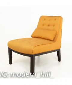Edward Wormley Edward Wormley for Dunbar Mid Century Slipper Lounge Chairs Pair - 1850993