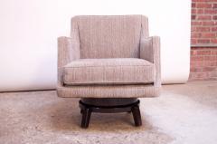 Edward Wormley Edward Wormley for Dunbar Revolving Lounge Chair in Mahogany - 1114000