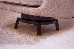 Edward Wormley Edward Wormley for Dunbar Revolving Lounge Chair in Mahogany - 1114002
