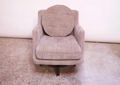 Edward Wormley Edward Wormley for Dunbar Revolving Lounge Chair in Mahogany - 1114007