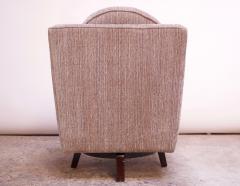 Edward Wormley Edward Wormley for Dunbar Revolving Lounge Chair in Mahogany - 1114011