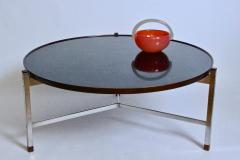 Edward Wormley Edward Wormley for Dunbar Rosewood Chrome and Black Micarta Coffee Table 1950s - 1813994
