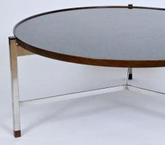 Edward Wormley Edward Wormley for Dunbar Rosewood Chrome and Black Micarta Coffee Table 1950s - 1813995
