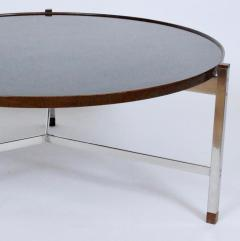 Edward Wormley Edward Wormley for Dunbar Rosewood Chrome and Black Micarta Coffee Table 1950s - 1814011