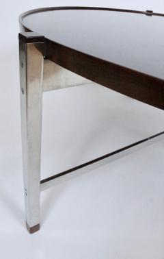 Edward Wormley Edward Wormley for Dunbar Rosewood Chrome and Black Micarta Coffee Table 1950s - 1814015
