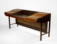 Edward Wormley Edward Wormley for Dunbar Solid Brazilian Rosewood Tambour Desk Model 912C - 1148526