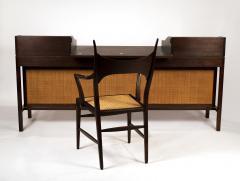 Edward Wormley Edward Wormley for Dunbar Solid Brazilian Rosewood Tambour Desk Model 912C - 1148527