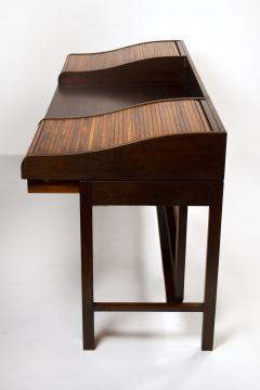 Edward Wormley Edward Wormley for Dunbar Solid Brazilian Rosewood Tambour Desk Model 912C - 1148528