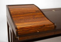 Edward Wormley Edward Wormley for Dunbar Solid Brazilian Rosewood Tambour Desk Model 912C - 1148531