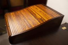 Edward Wormley Edward Wormley for Dunbar Solid Brazilian Rosewood Tambour Desk Model 912C - 1148533