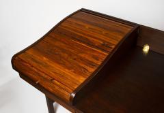 Edward Wormley Edward Wormley for Dunbar Solid Brazilian Rosewood Tambour Desk Model 912C - 1148535